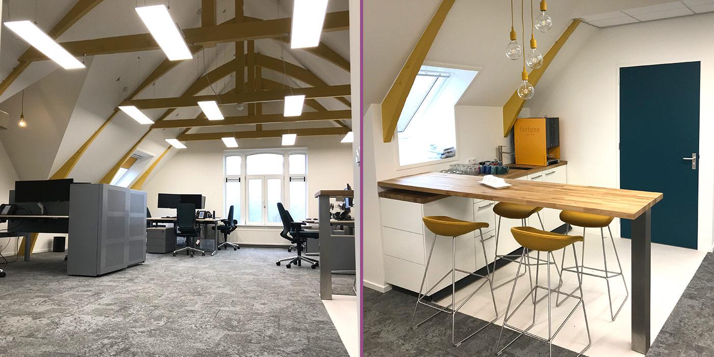 Verbouwing kantoortuin op zolder. inclusief isolatie in daken