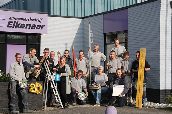 Het team van Aannemersbedrijf Eikenaar
