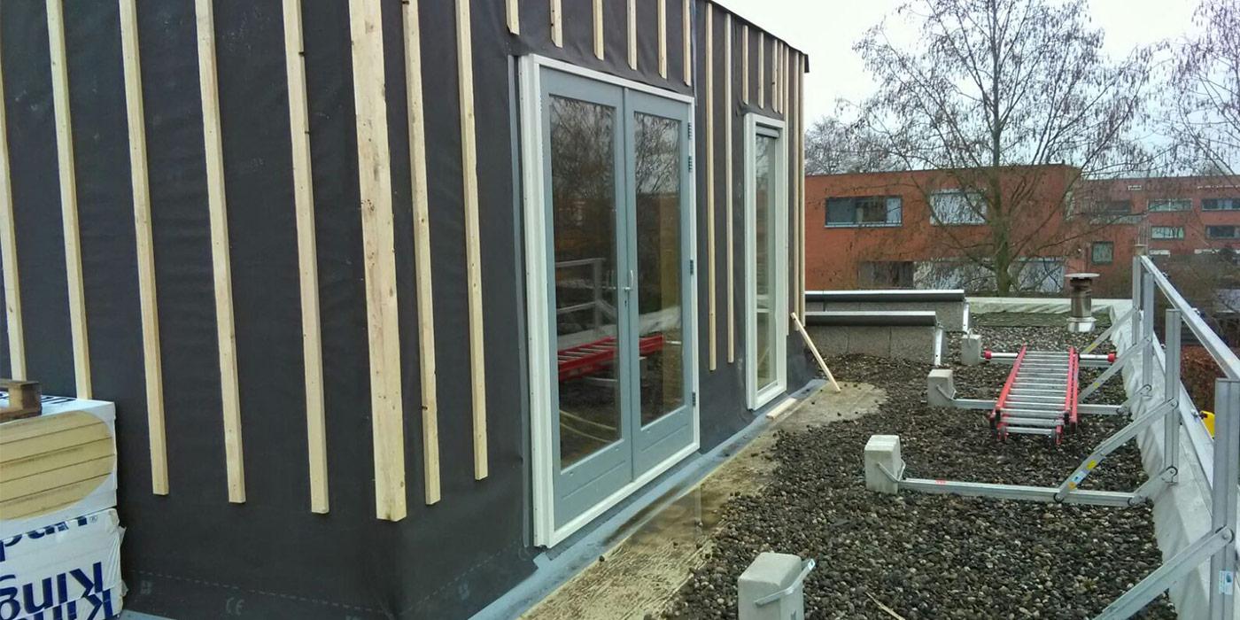 Aanleg opbouw woning Stadshagen Zwolle