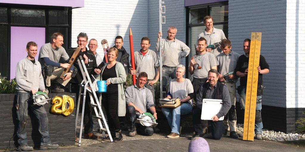 Het Team van Aannemersbedrijf Eikenaar Zwolle