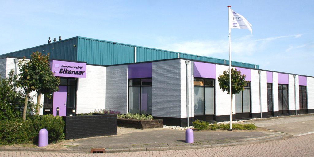 Het pand van Aannemersbedrijf Eikenaar in Zwolle